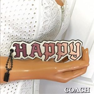 Coach Disney Happy Hang Tag Bag Charm NWT